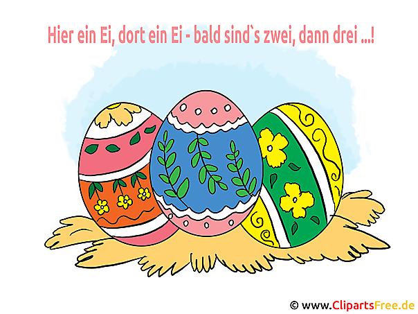 Ostereier - Grußkarte mit Ostereiern und Glückwünschen