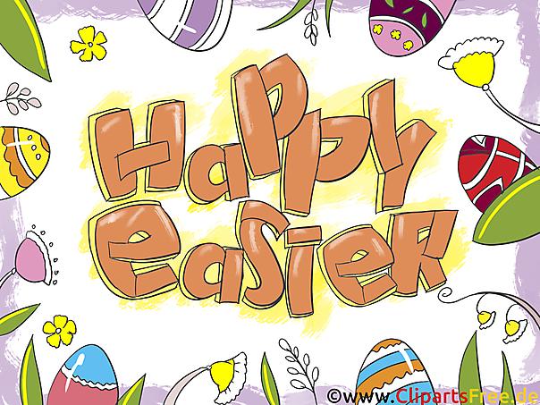 Pasen-groet Gelukkig Pasen-grafisch beeld, clipart, groetkaart, GB-beeld