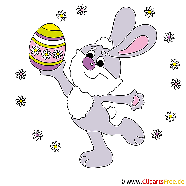 Osterhase Cartoon, Bild, Clipart