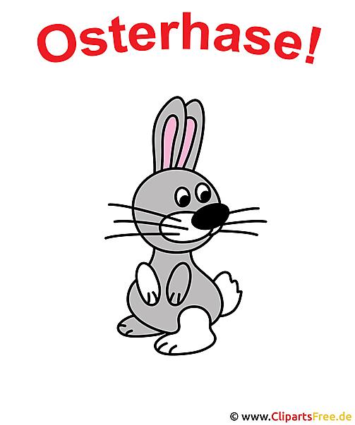 Easter bunny cartoon clipart gratis