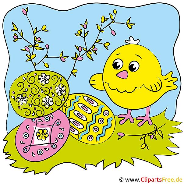 Ostern Cartoon