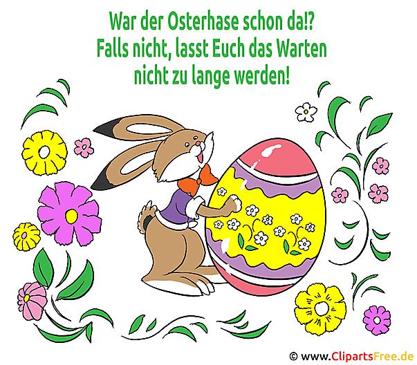 Ostern Gedicht Karte mit Osterhase