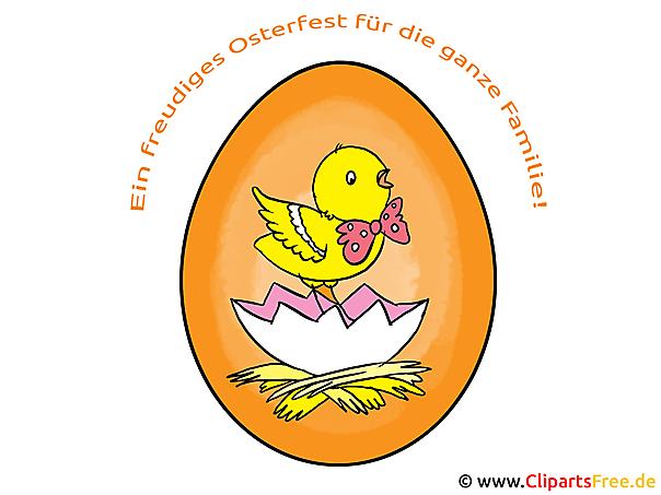 Ostern Spruch Grusskarte