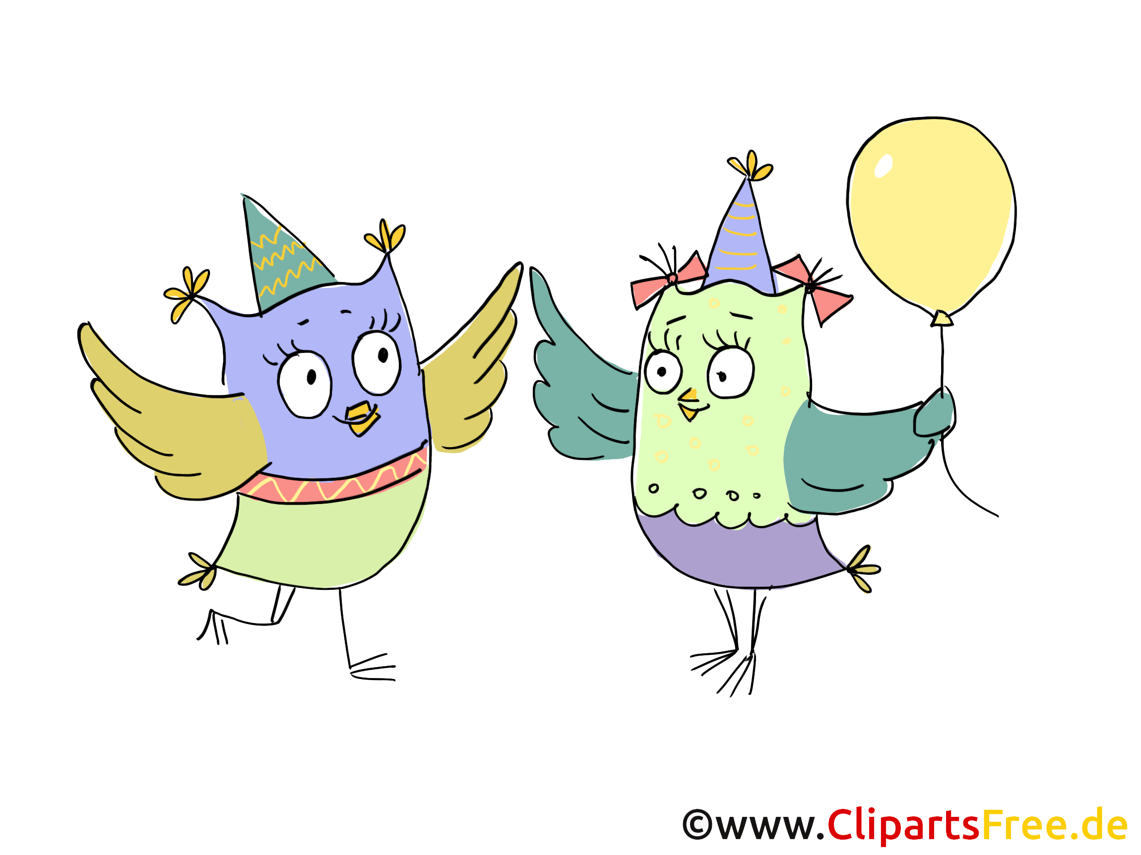 誕生日パーティーのクリップアート