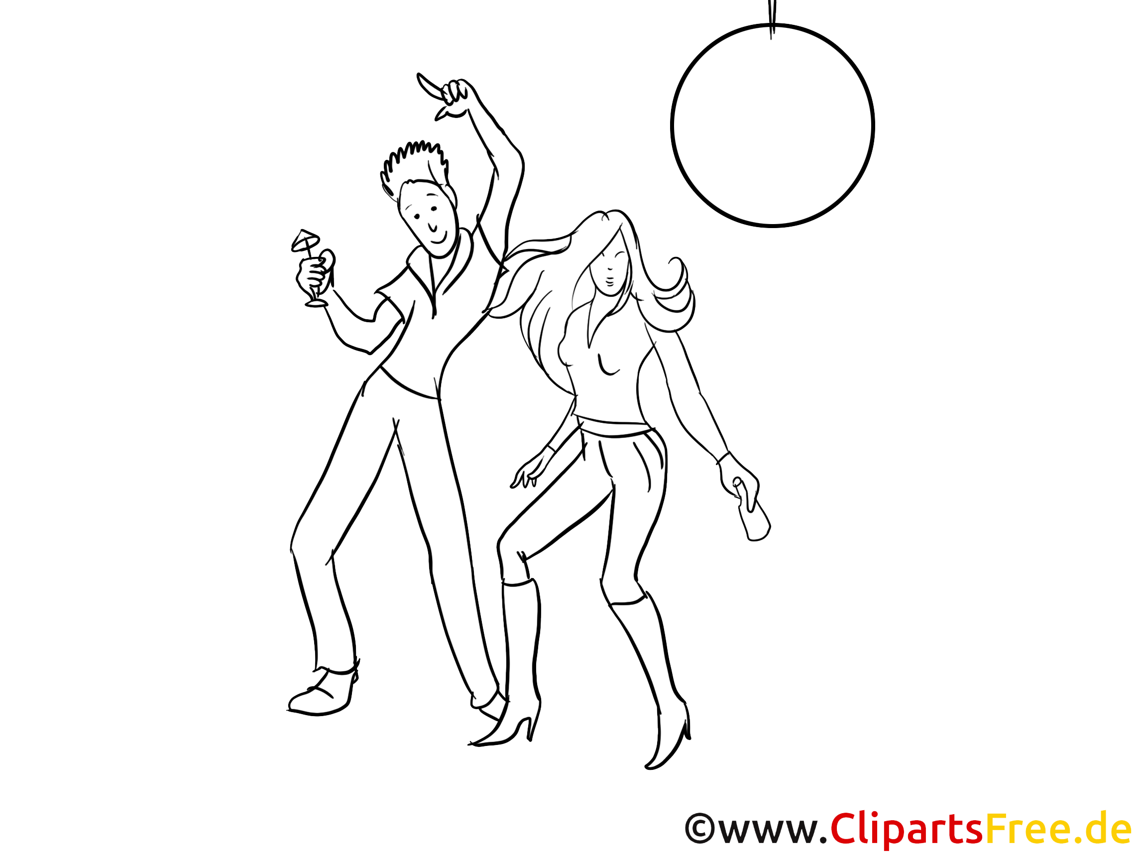Disko Clipart, Bild. Zeichnung, Grafik