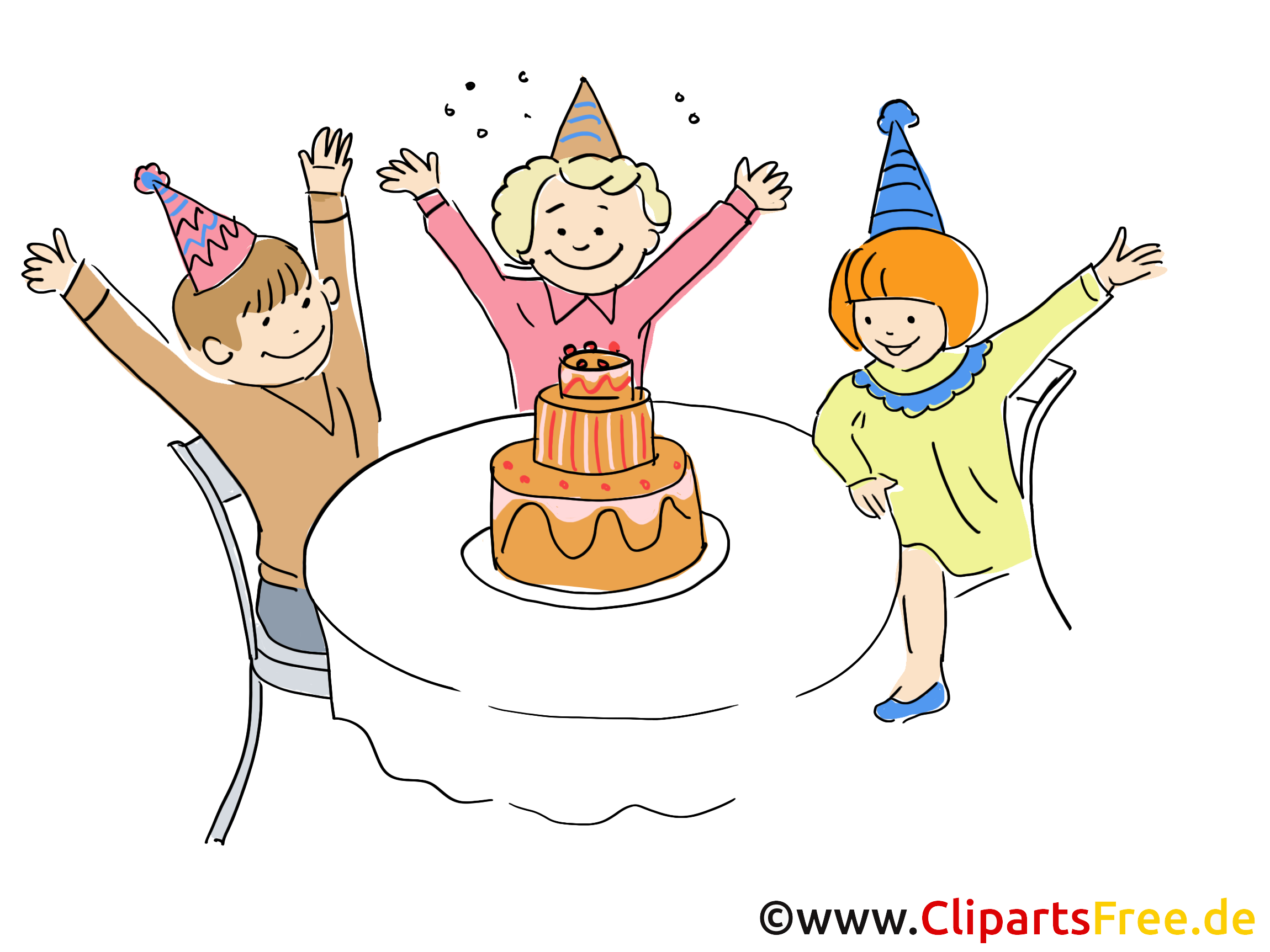 geburtstag party kinder clipart gratis. Black Bedroom Furniture Sets. Home Design Ideas