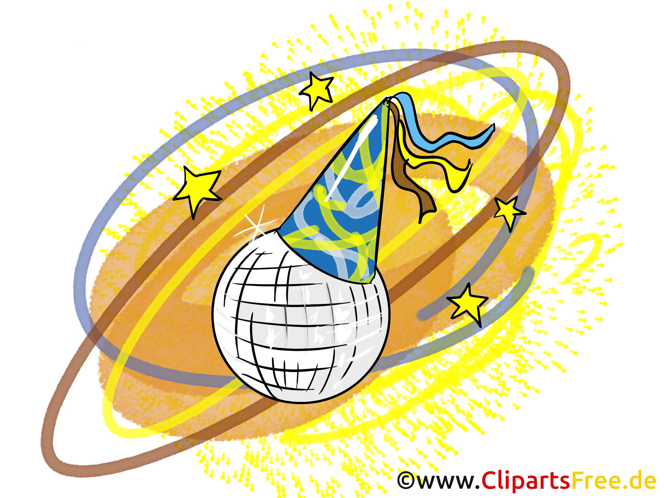 Spiegelkugel Clipart, Bild, Grafik, Illustration