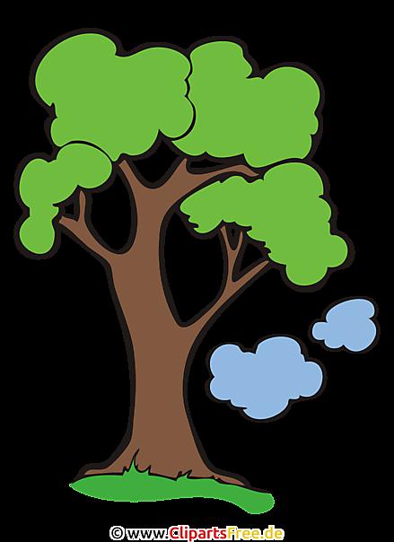 Baum clipart bild cartoon grafik illustration - Baum comic bilder ...