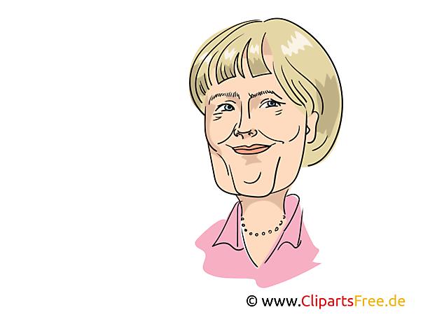 Angela Merkel Karikatur kostenlos