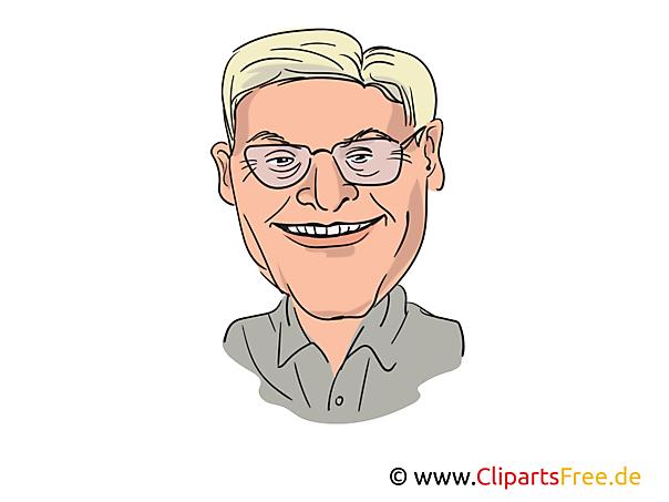 Frank-Walter Steinmeier Karikatur, Bild, Illustration, Comic