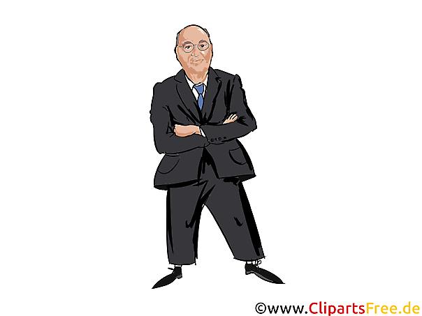 Gregor Gysi Karikatur, Comic, Cartoon, Illustration, Clipart Politiker