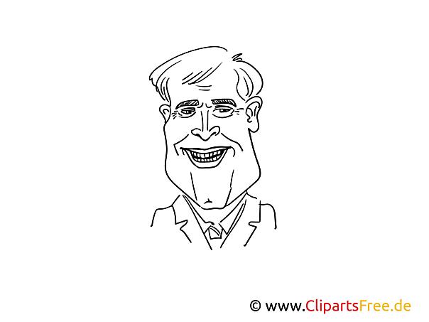 Horst Seehofer Zeichnung, Cartoon, Karikatur