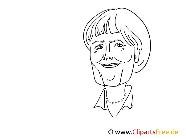 Merkel Zeichnung kostenlos