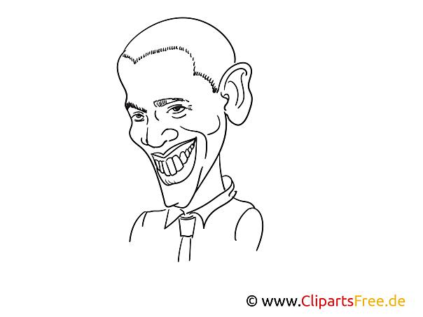 Obama Zeichnung, Cartoon, Karikatur