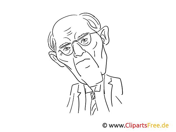 Schäuble Zeichnung, Cartoon, Karikatur