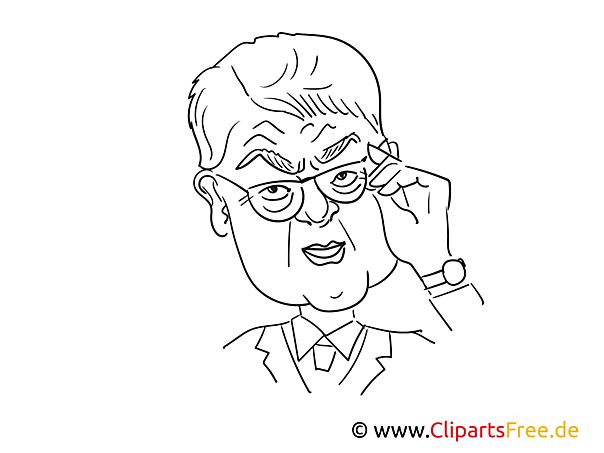 Sigmar Gabriel Karikatur, Zeichnung, Cartoon
