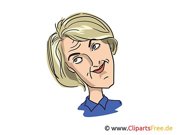 Ursula von der Leyen Karikatur, Bild, Illustration, Comic