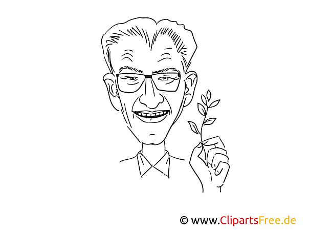 Winfried Kretschmann Zeichnung, Cartoon, Karikatur