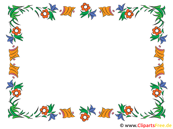 Blumen Rahmen Clipart kostenlos