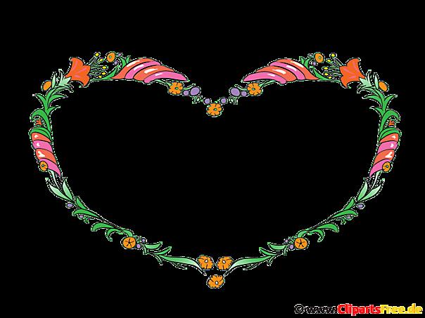 クリップアート花のフレーム