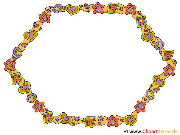 Passepartout Rahmen-Bild, Grafik, Clipart gratis herunterladen