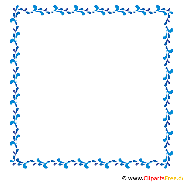 Rahmen blau