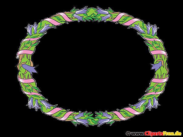 Rahmen oval