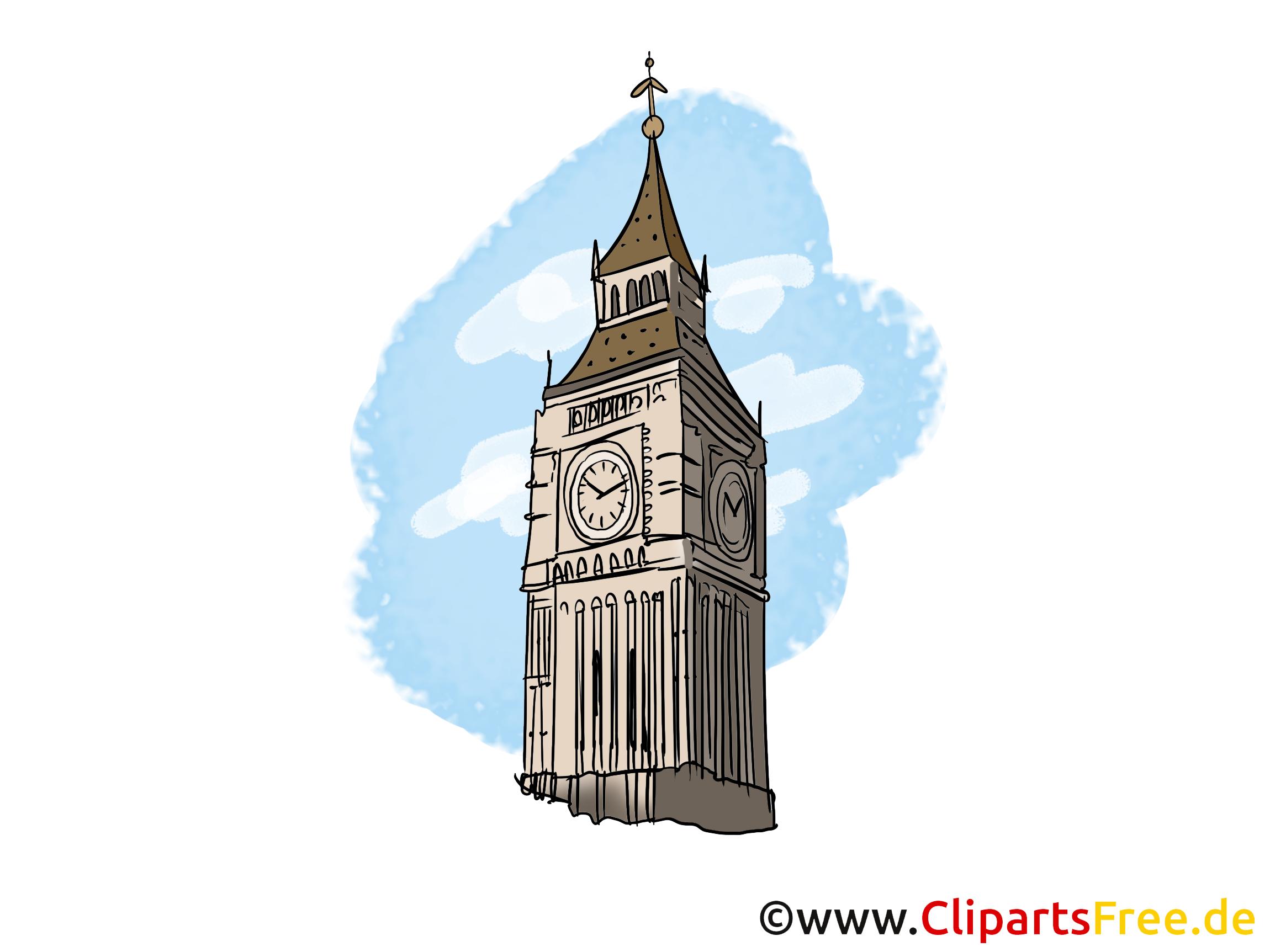 Big Ben London Bild Clipart Illustration Grafikm Gratis