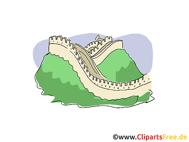 Great Wall Clip Art, Bild, Cartoon