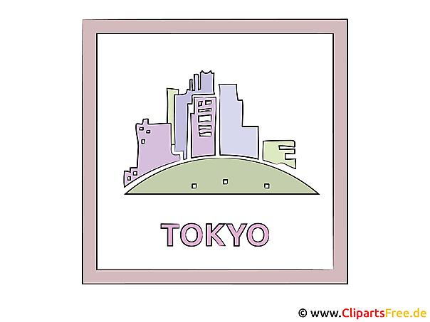 Hauptstadt Japans Tokyo Clipart