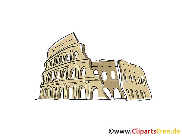 Kolosseum Clipart, Bild, Cartoon