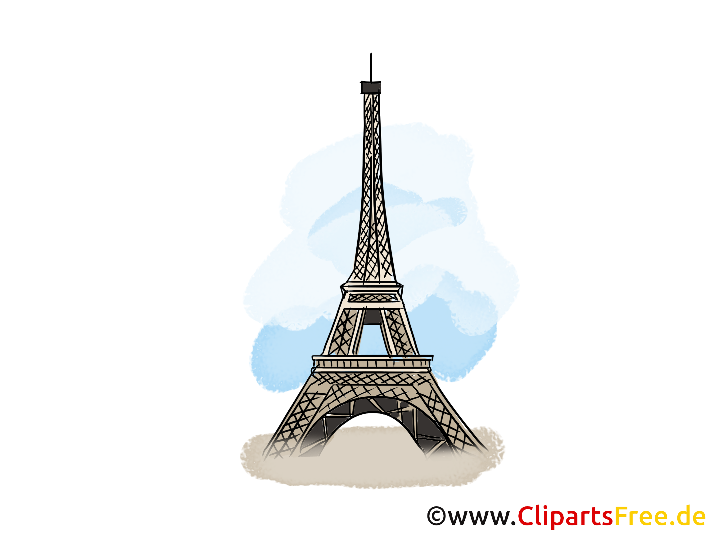 Paris Karte, Clip Art, Bild, Illustration