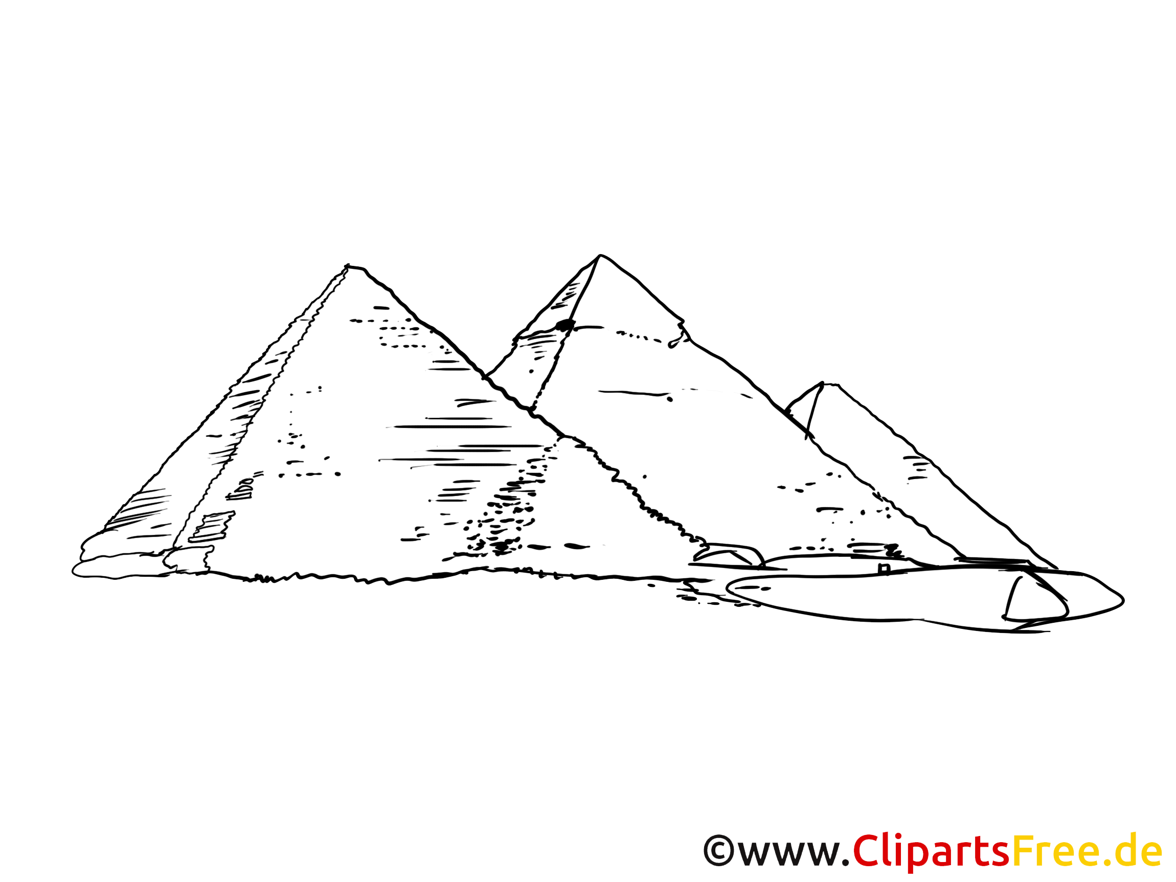 Pyramiden Bild, Zeichnung, Clipart gratis