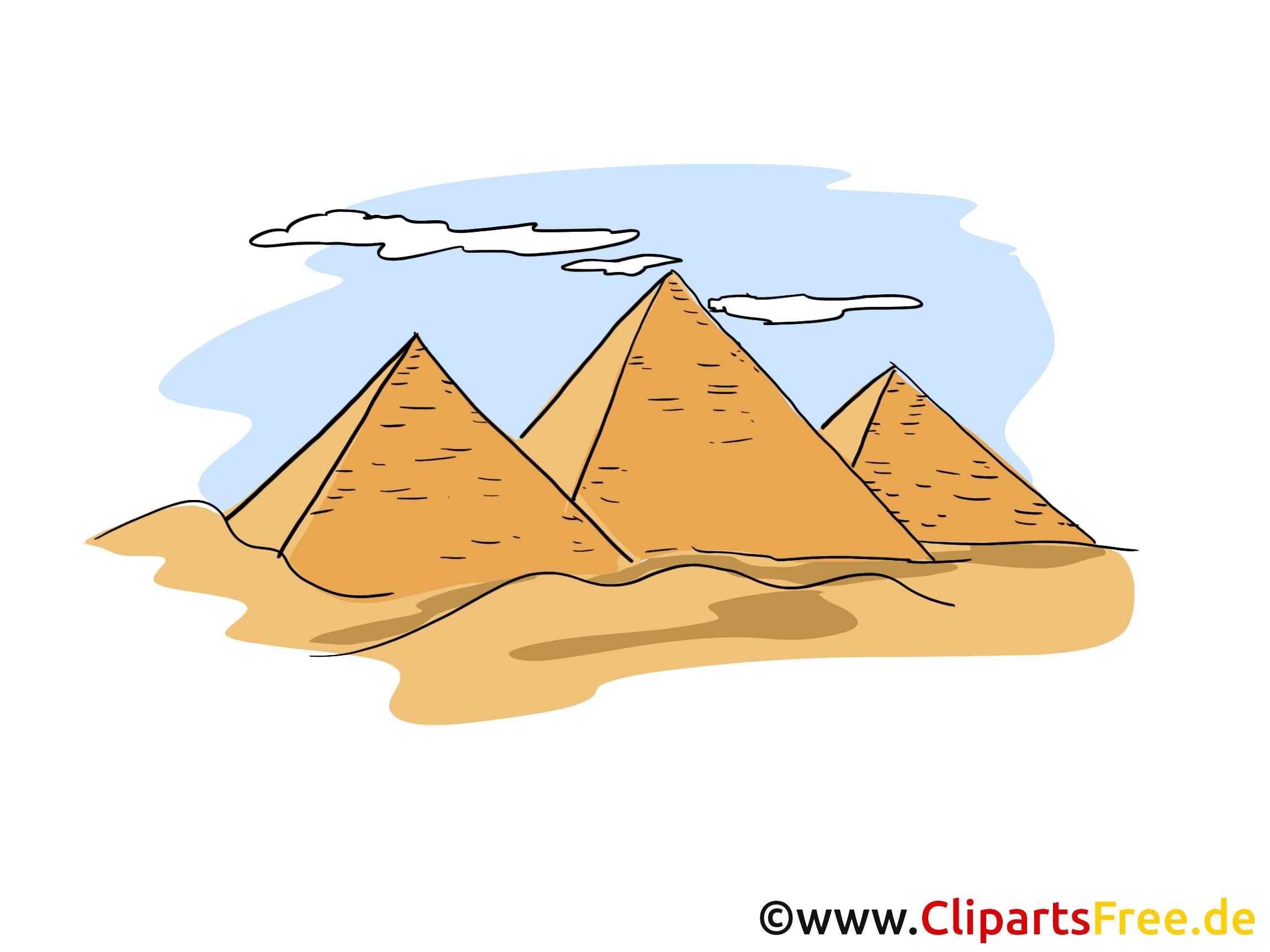 Pyramiden clipart bild cartoon - Dessin de pyramide ...