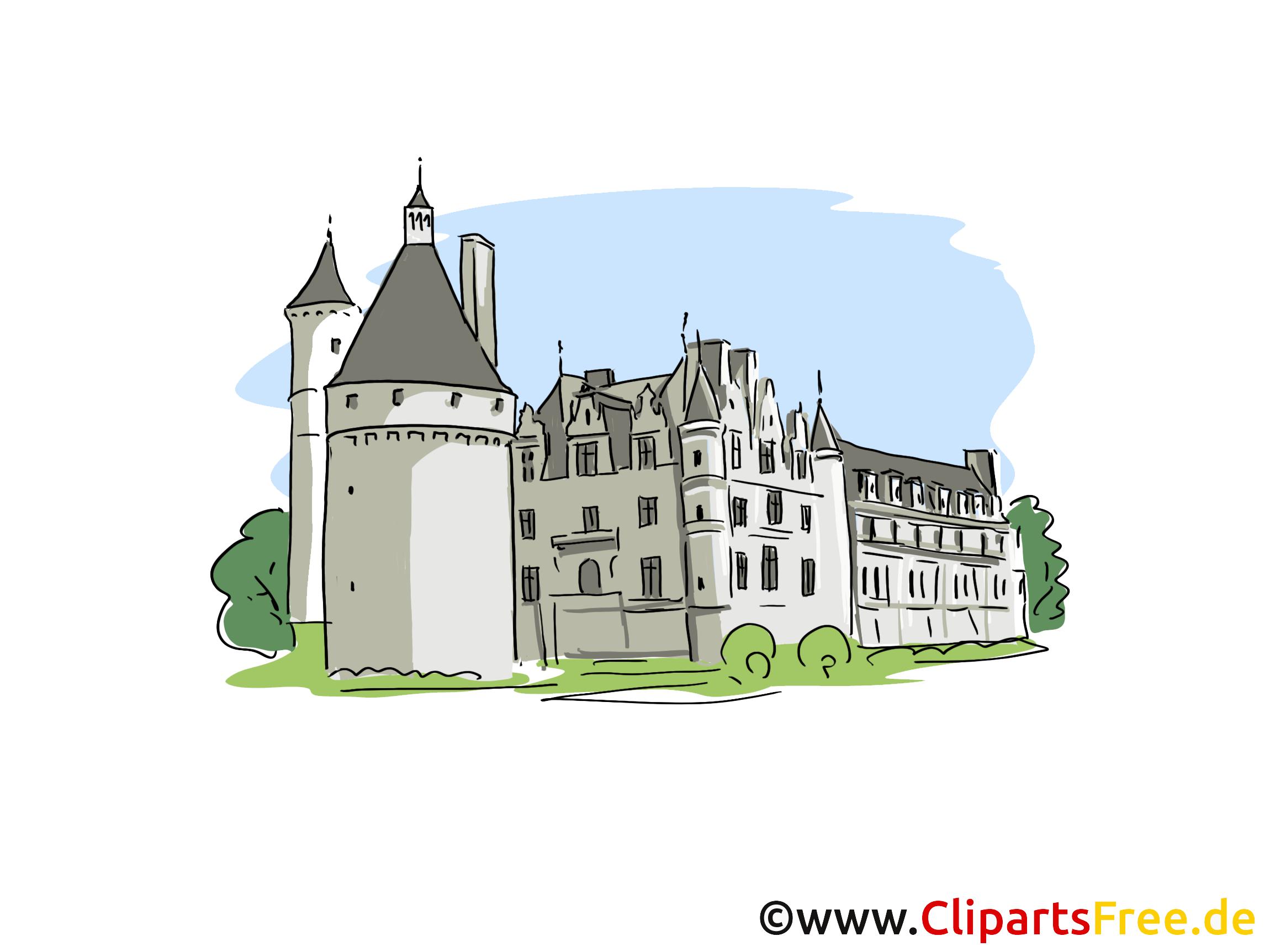 Schloss Clipart, Bild, Cartoon