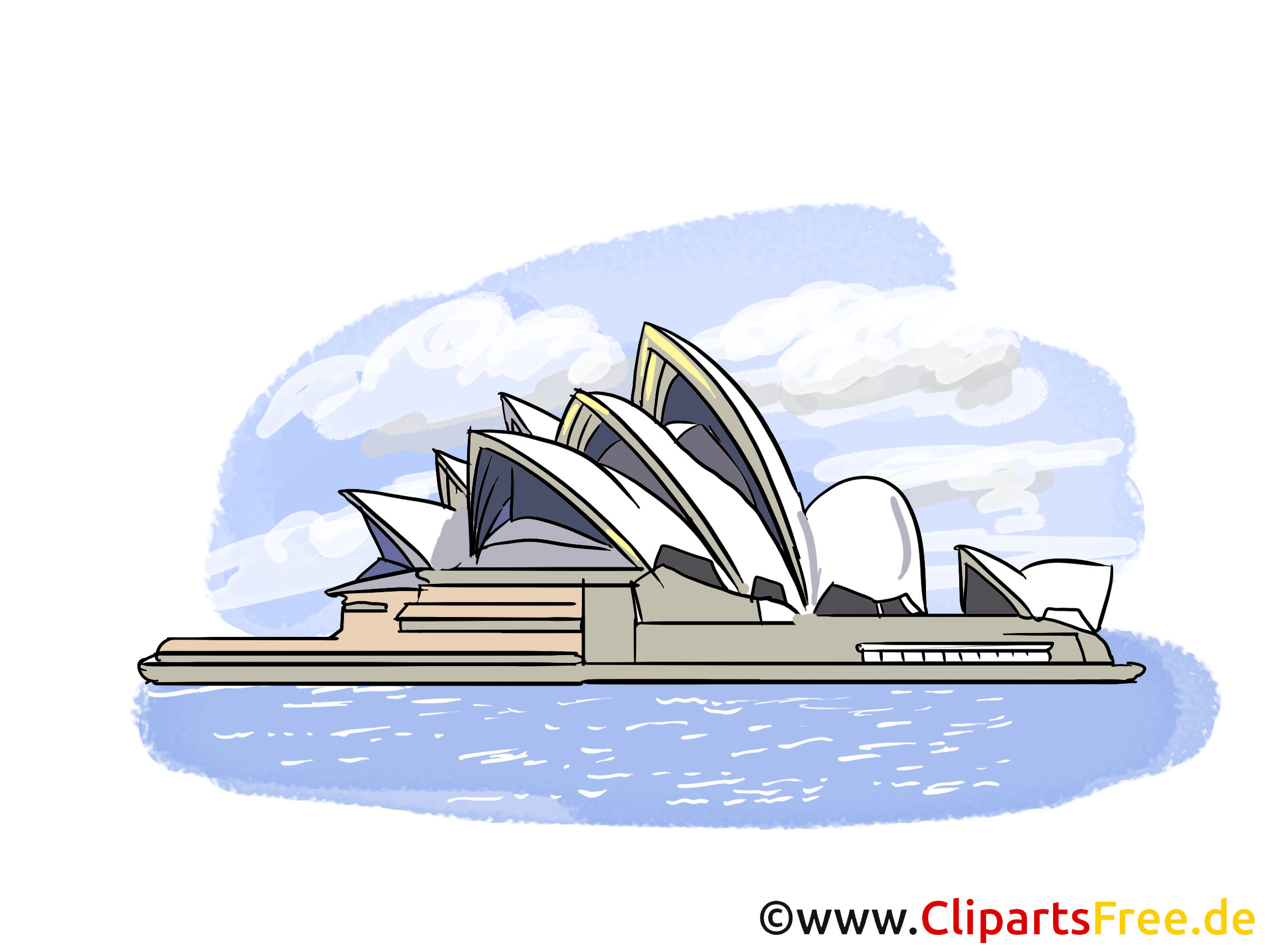 Sydney Opera House Australien Bild, Clipart, Illustration, Grafikm ...