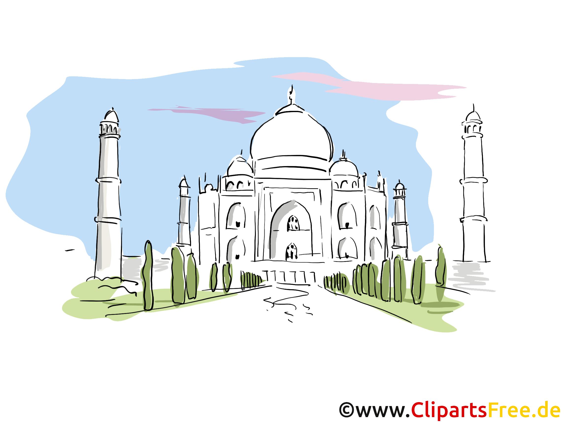 Taj Mahal Clip Art, Bild, Cartoon