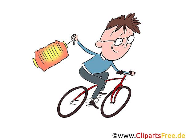 martinstag junge fahrrad clipart illustration bild
