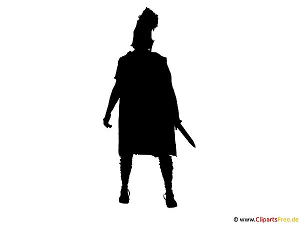gladiator silhouette bild