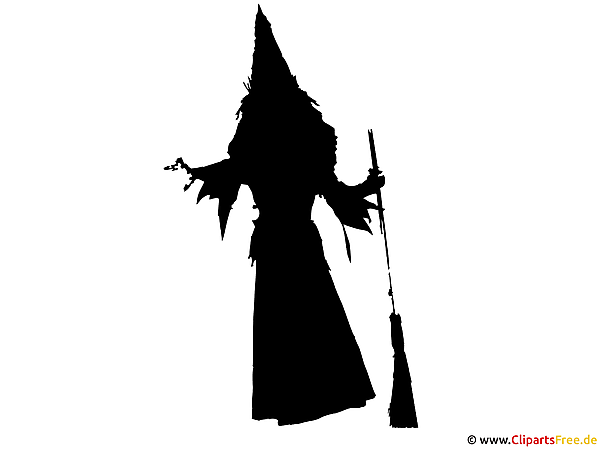 Silhouette Hexe Clipart