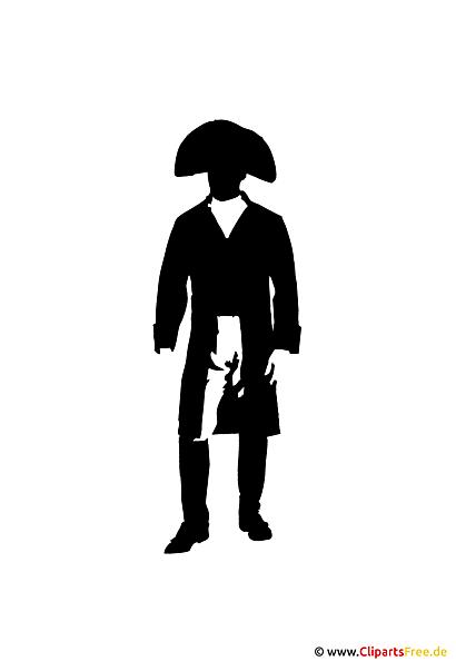 silhouette napoleon clipart bild. Black Bedroom Furniture Sets. Home Design Ideas