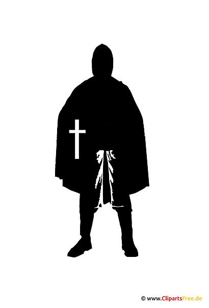 Silhouette Ritter Clipart - Grafik