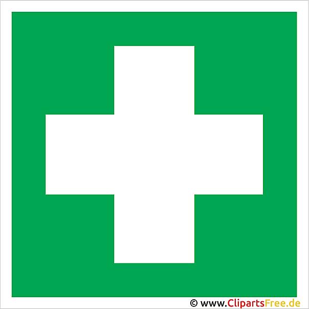 Grünes Kreuz Clipart-Bild gratis