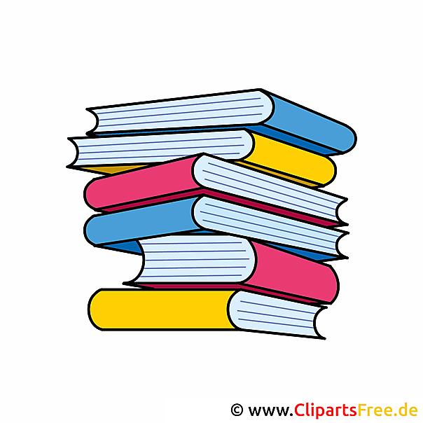 Bücher Clipart Schule