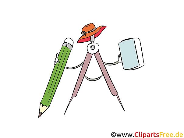 Clipart Zirkel Schule, Lernen, Ausbildung