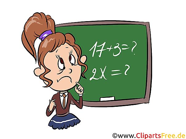 Denklemler matematik dersini çözmek Clipart, image, illustration