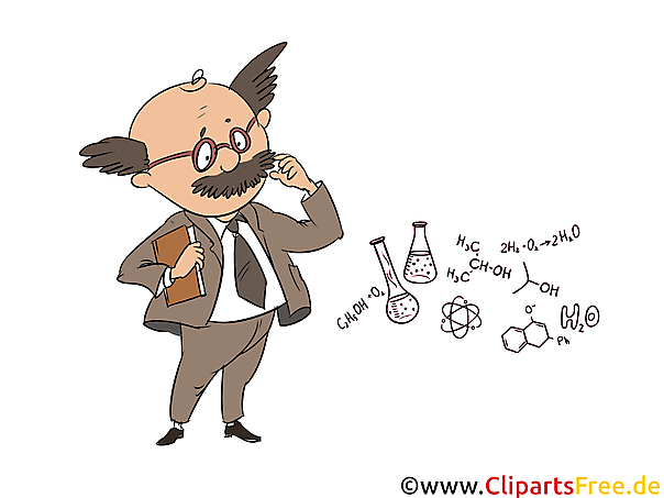 無料クリップアートスクール科目化学