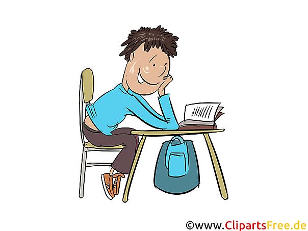 宿題をすることクリップアート、イラスト、グラフィック、画像