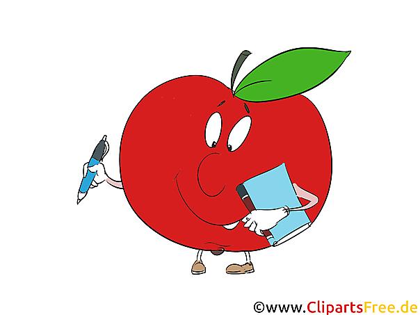 Kostenlose Cliparts Lernen in Schule