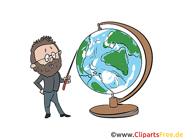 Öğretmen, küre, küçük resim, resim, grafik, resimleme